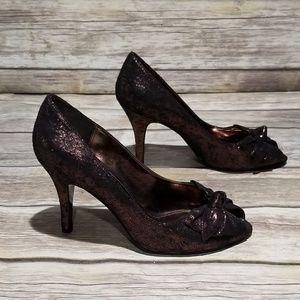 Mia Bronzed Sparkle Heels size 7
